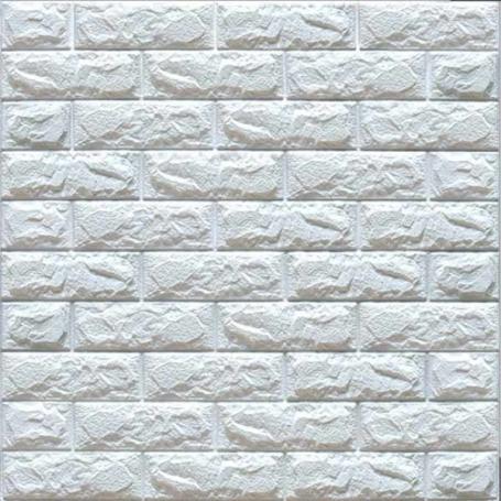 Самоклеюча 3D панель під білу цеглу700x770x7мм