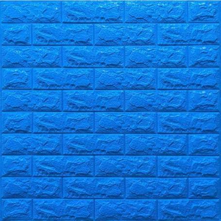 Самоклеющаяся 3D панель под синий кирпич 700x770x7мм