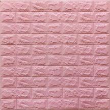Самоклеющаяся 3D панель под розовый кирпич 700x770x7мм