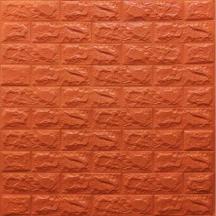 Самоклеющаяся 3D панель под оранжевый кирпич 700x770x7мм