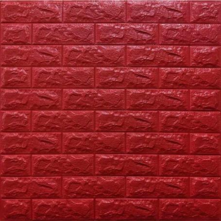 Самоклеющаяся 3D панель под красный кирпич 700x770x7мм