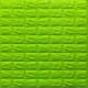 Самоклеющаяся 3D панель под зеленый кирпич 700x770x7мм