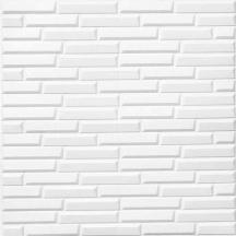 Самоклеющаяся 3D панель под белый камень 700x770x8мм
