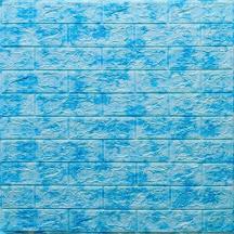Самоклеюча 3D панель під блакитний мармур 700x770x5мм