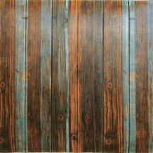 Самоклеющаяся 3D панель под серо-коричневое дерево 700x700x7мм