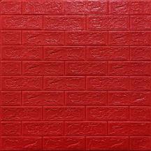 Самоклеющаяся 3D панель под красный кирпич 700x770x5мм