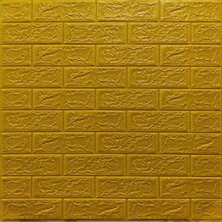 Самоклеющаяся 3D панель под золотой кирпич 700x770x5мм