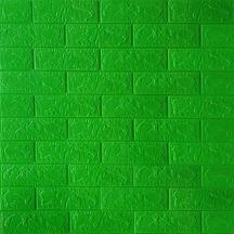 Самоклеющаяся 3D панель под зеленый кирпич 700x770x3мм