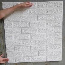 Самоклеющаяся 3D панель под белый кирпич 700x770x5мм