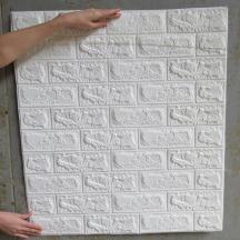 Самоклеюча 3D панель під білу матову цеглу 700x770x7мм