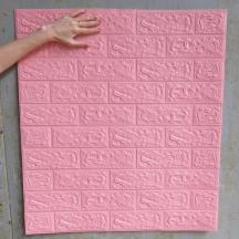 Самоклеющаяся 3D панель под розовый кирпич 700x770x5мм