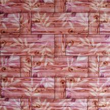 Самоклеющаяся 3D панель под бамбук оранжевая 700x700x8мм