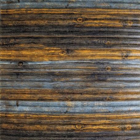 Самоклеющаяся 3D панель под бамбук серо-коричневая 700x700x8мм