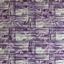 Самоклеющаяся 3D панель под бамбук фиолетовая 700x700x8мм