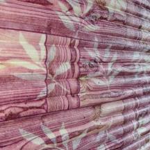 Самоклеющаяся 3D панель под бамбук розовая 700x700x8мм