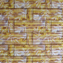 Самоклеющаяся 3D панель под бамбук желтая 700x700x8мм