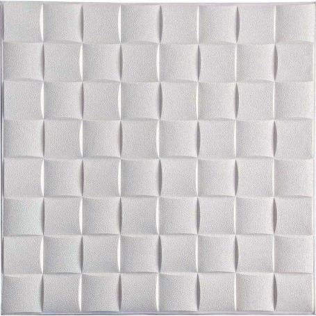 Самоклеющаяся 3D панель под белые кубики 700x700x8мм