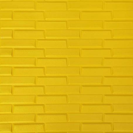 Самоклеющаяся 3D панель под желтый камень 700x770x7мм