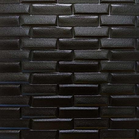 Самоклеющаяся 3D панель под черный камень 700x770x7мм