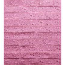 Самоклеющаяся 3D панель под розовый кирпич 700x770x3мм