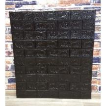 Самоклеющаяся 3D панель под черный кирпич 700x770x5мм