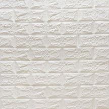 Самоклеюча 3D панель під білу матову цеглу 700x770x4мм