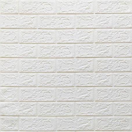 Самоклеюча 3D панель під білу цеглу 700x770x5мм