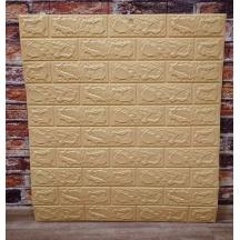 Самоклеющаяся 3D панель под желто-песочный кирпич 700x770x5мм