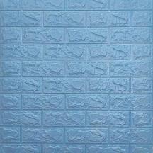 Самоклеющаяся 3D панель под голубой кирпич 700x770x5мм