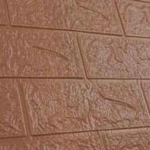 Самоклеющаяся 3D панель под коричневый кирпич 700x770x3мм