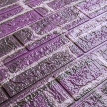 Самоклеющаяся 3D панель под фиолетовый екатеринославский кирпич 700x770x5мм