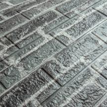 Самоклеющаяся 3D панель под серый екатеринославский кирпич 700x770x5мм