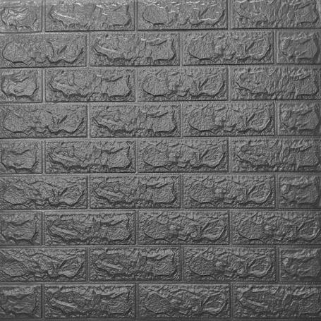 Самоклеющаяся 3D панель под серебряный кирпич 700x770x5мм