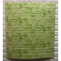 Самоклеюча 3D панель під зелений мармур 700x770x5мм