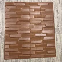 Самоклеющаяся 3D панель под коричневый камень 700x770x8мм