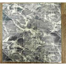 Самоклеюча 3D панель під чорний мраморний камінь 700x770x7мм