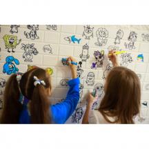 Самоклеющаяся 3D панель детская раскраска 700x770x5мм