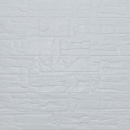 Самоклеющаяся 3D панель под белый рваный кирпич 700x770x5мм