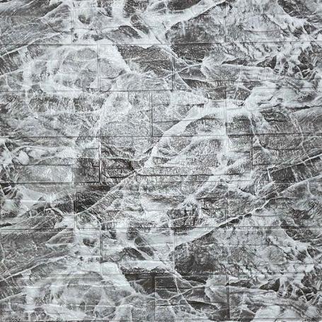 Самоклеющаяся 3D панель под серый рваный кирпич 700x770x5мм