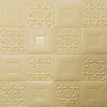 Самоклеющаяся 3D панель бежевый орнамент 700x700x5мм