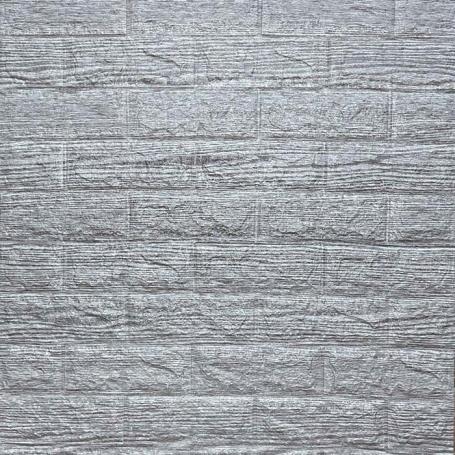 Самоклеющаяся 3D панель серая полоска 700x770x5мм