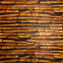 Самоклеющаяся 3D панель под огненное дерево 700x700x5мм