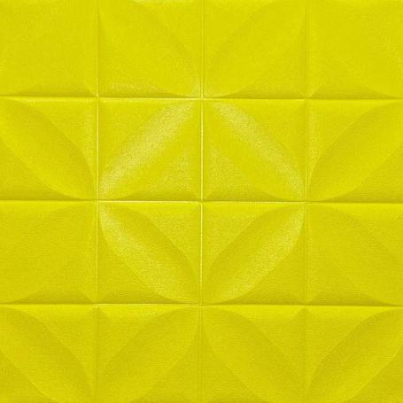Самоклеющаяся 3D панель лимонная ромашка 700x700x5мм