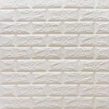 Самоклеюча 3D панель під білу матову цеглу 700x770x5мм