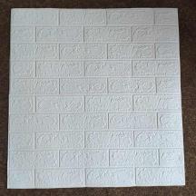 Самоклеющаяся 3D панель под белый кирпич 700x770x3мм