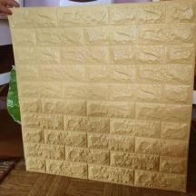 Самоклеющаяся 3D панель под желто-песочный кирпич 700x770x7мм