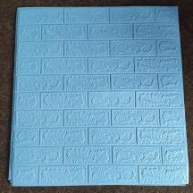 Самоклеющаяся 3D панель под голубой кирпич 700x770x3мм