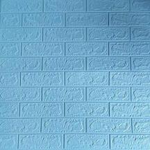 Самоклеюча 3D панель під блакитну цеглу 700x770x3мм