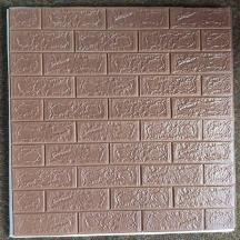 Самоклеющаяся 3D панель под коричневый кирпич 700x770x5мм