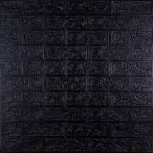 Самоклеющаяся 3D панель под черный кирпич 700x770x3мм